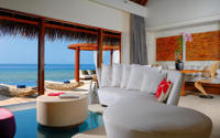 Seascape Escape Living Room W Retreat & Spa Maldives